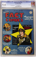 "Golden Age (1938-1955):Non-Fiction, Real Fact Comics #4 ""D"" Copy pedigree (DC, 1946) CGC NM 9.4Off-white to white pages. Actor Jimmy Stewart, writer Jack Londo..."