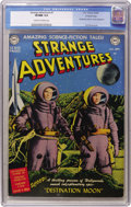 Golden Age (1938-1955):Science Fiction, Strange Adventures #1 Crowley Copy pedigree (DC, 1950) CGC VF/NM9.0 Cream to off-white pages. This copy is tied for the hig...