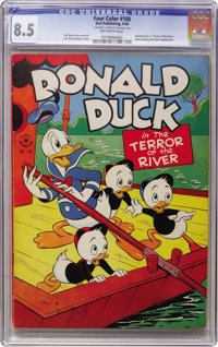 Four Color #108 Donald Duck(Dell, 1946) CGC VF+ 8.5 Off-white pages