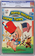 Golden Age (1938-1955):Cartoon Character, Looney Tunes and Merrie Melodies Comics #10 (Dell, 1942) CGC VG/FN5.0 Off-white to white pages....
