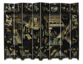 Asian:Chinese, A Chinese Export Eight-Panel Coromandel Folding Screen. Unknownmaker, Chinese. Late Qing Dynasty, Tongzhi Period (1862-18...