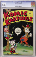 Golden Age (1938-1955):Funny Animal, Komic Kartoons #1 Vancouver pedigree (Timely, 1945) CGC NM+ 9.6White pages....