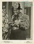 """Music Memorabilia:Autographs and Signed Items, Louis Armstrong Signed Photo. A great b&w 8"""" x 10"""" promo stillof Armstrong as """"Bottom"""" in the stage musical Swing'n the D...(Total: 1 Item)"""