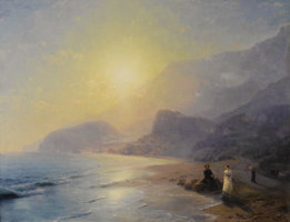 Featured item image of Ivan Konstantinovich Aivazovsky (Crimean, 1817-1900)   Pushkin at the Waters Edge  1886  Oil on canvas  Signed...