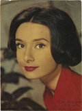 "Movie/TV Memorabilia:Autographs and Signed Items, Audrey Hepburn Signed Picture. A 10"" x 14"" color magazine pagefeaturing a gorgeous close-up of Hepburn, inscribed ""To John ...(Total: 1 Item)"