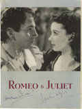 "Movie/TV Memorabilia:Autographs and Signed Items, Laurence Olivier and Vivien Leigh Signed ""Romeo & Juliet"" Program. In 1940, Laurence Olivier produced a revival of Shakespea..."