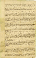 "Military & Patriotic:Revolutionary War, (American Revolution: Boston Tea Party) Important ManuscriptDocument Signed. Two pages, 8""x 13"", Truro, Massachusetts, Janu..."