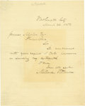 "Autographs:U.S. Presidents, Millard Fillmore Autograph Letter Signed ""Millard Fillmore""as President. Two pages, 8"" x 10"", Washington, March 24, 185..."