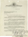 Movie/TV Memorabilia:Autographs and Signed Items, Charles Laughton Signed Contract. A three-page agreement on MGMletterhead, dated August 25, 1934, engaging Laughton for the...(Total: 1 Item)