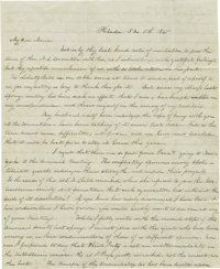 "Lucretia Mott Autograph Letter Signed, ""L. Mott"". Two pages, 7.62"" ´ 9.37"", Philadelphia, May..."