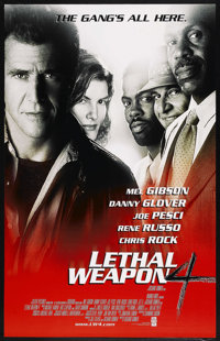 """Lethal Weapon 4 (Warner Brothers, 1998). One Sheets (2) (27"""" X 40"""") DS Regular and Advance. Action. Starring M..."""