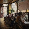 Fine Art - Painting, American:Contemporary   (1950 to present)  , HARRY MCCORMICK (American, b. 1942). Cafe. Oil on canvas. 16x 16 inches (40.6 x 40.6 cm). Signed lower right: McCormi...