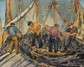 Fine Art - Painting, American:Modern  (1900 1949)  , DOROTHY LUBELL FEIGIN (American, 1904-1969). Fisherman.Watercolor on paper. 21 x 27 inches (53.3 x 68.6 cm). Signed low...