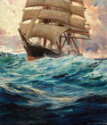 Illustration:Sporting, FROM THE ESTATE OF CHARLES MARTINGNETTE. ANTON OTTO FISCHER(American, 1882-1962). Clipper Ship at Sea. Oil on can...