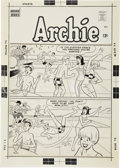Original Comic Art:Covers, Dan DeCarlo Pep Comics #197 Archie Cover Original Art(Archie, 1966)....