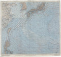 """Autographs:Military Figures, Enola Gay: George Caron's East China Sea """"Silk"""" Maps, used in Caron's survival kit flown on the atomic bomb mission ... (Total: 3 Items)"""
