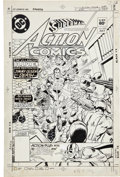 Original Comic Art:Covers, Rich Buckler and Dick Giordano Action Comics #533 CoverOriginal Art (DC, 1982)....