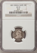 Bust Dimes: , 1821 10C Small Date Good 4 NGC. JR-10. NGC Census: (1/37). PCGSPopulation (0/43). Numismedia Wsl. Price for problem free...