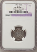 Bust Dimes: , 1827 10C --Harshly Cleaned--NGC Details. VF. JR-11. NGC Census:(2/240). PCGS Population (6/259). Mintage: 1,300,000. Numis...