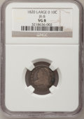 Bust Dimes: , 1820 10C Large 0 VG8 NGC. JR-8. NGC Census: (3/216). PCGSPopulation (2/158). Mintage: 942,587. Numismedia Wsl. Price for ...