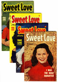 Golden Age (1938-1955):Romance, Sweet Love #1-4 File Copies Group (Harvey, 1949-50) Condition:Average VF.... (Total: 4 Comic Books)