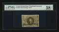 Fractional Currency:Second Issue, Fr. 1233 5¢ Second Issue PMG Choice About Unc 58 EPQ....