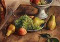 Fine Art - Painting, American:Modern  (1900 1949)  , ROBERT PHILIPP (American, 1895-1981). Fruit . Oil on canvas.14 x 20 inches (35.6 x 50.8 cm). Signed upper right: Phil...