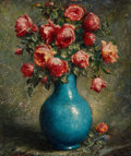 Fine Art - Painting, European:Modern  (1900 1949)  , ADOLF FELICE MÜLLER-URY (American/Swiss, 1862-1947). Still lifewith Roses, 1937. Oil on canvas. 25-1/4 x 20 inches (64....