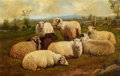 Fine Art - Painting, American:Antique  (Pre 1900), ARTHUR FITZWILLIAM TAIT (American, 1819-1905). Noonday Rest,1896. Oil on canvas backed by board. 14 x 22 inches (36.2 x...