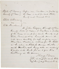 "Judge Roy Bean Court Document Signed ""Roy Bean"""