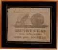 Political:Textile Display (pre-1896), Henry Clay: Delightful 1844 Campaign Banner. ...
