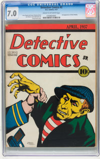 Detective Comics #2 (DC, 1937) CGC FN/VF 7.0 Cream to off-white pages