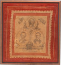 Political:Textile Display (pre-1896), Tilden & Hendricks: Rare 1876 Campaign Bandanna for TheseCentennial Candidates....