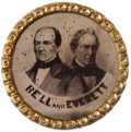 Political:Ferrotypes / Photo Badges (pre-1896), Bell & Everett: Another of the Important 1860 Uniside JugateFerros....