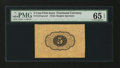 Fractional Currency:First Issue, Fr. 1231SP 5¢ First Issue Wide Margin Back PMG Gem Uncirculated 65EPQ....
