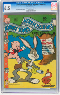 Looney Tunes and Merrie Melodies Comics #31 (Dell, 1944) CGC FN+ 6.5 Cream to off-white pages