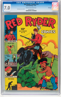 Red Ryder Comics #14 File Copy (Dell, 1943) CGC FN/VF 7.0 Cream to off-white pages