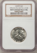 Errors, 1960-D 50C Franklin Half--Struck on a Quarter Planchet--MS63 Full Bell Lines NGC....