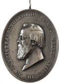 Political:Tokens & Medals, Rutherford B. Hayes Indian Peace Medal, 1877, Restrike, AU Details NGC....