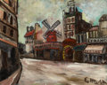 Impressionism & Modernism:post-Impressionism, ELISÉE MACLET (French, 1881-1962). Moulin de la Galette. Oilon canvas. 24 x 30 inches (61.0 x 76.2 cm). Signed lower ri...