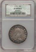 Early Half Dollars, 1795 50C 2 Leaves--Repaired--NCS. VF Details. O-116, R.5....