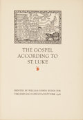 Books:First Editions, The Gospel According to St. Luke. New York: The John DayCompany, 1926....