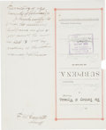 Autographs:Celebrities, Frank M. Canton: Notorious Outlaw and Lawman, Document Signed....