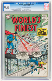 World's Finest Comics #115 (DC, 1961) CGC NM 9.4 Off-white to white pages
