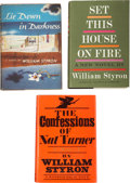 Books:Signed Editions, William Styron. Three Signed First Editions, including: Lie Downin Darkness. Indianapolis: The Bobbs-Merrill Compan... (Total:3 Items)