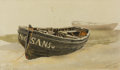 Works on Paper, EDWARD DUNCAN (British, 1803-1882). A Pair of Mumbles Oyster Boats,1855. Pair of watercolors on paper. 7-3/4 x 12-3/4 in... (Total: 2 Items)