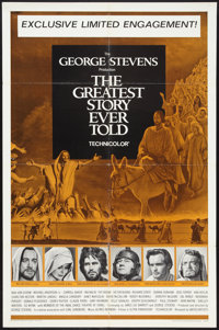 """The Greatest Story Ever Told (United Artists, 1965). One Sheet (27"""" X 41""""). Drama"""