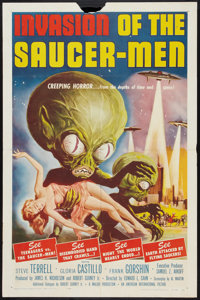 "Invasion of the Saucer-Men (American International, 1957). One Sheet (27"" X 41""). Science Fiction"
