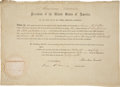 Autographs:U.S. Presidents, Abraham Lincoln Political Appointment Signed as president and countersigned by Secretary of State William H. Seward. One pag...