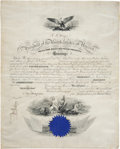 "Autographs:U.S. Presidents, Rutherford B. Hayes Naval Appointment Signed ""R. B. Hayes"".One vellum page, 15.75"" x 19.5"", Washington, December 12, 18..."